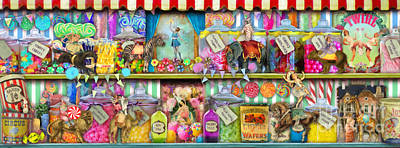 Old-fashioned Digital Art - Sweet Shop Panoramic by Aimee Stewart