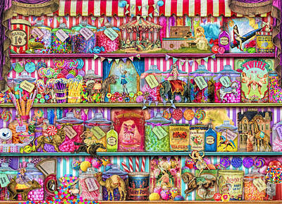 Lemon Digital Art - Sweet Shoppe by Aimee Stewart