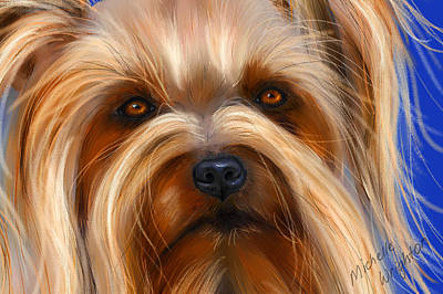 Digital Pastel Painting - Sweet Silky Terrier Portrait by Michelle Wrighton