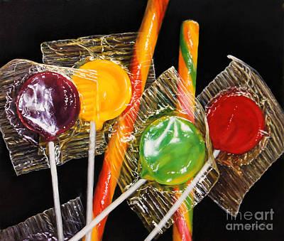 Suckers Painting - Sweet Somethings by Lisa  Ober