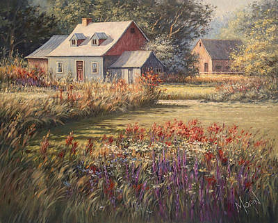 Contemporain Art Painting - Sweet Summer Day by Pierre Morin