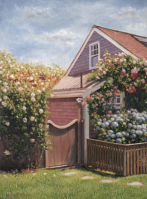 Cape Cod Painting - Sweet Summer Sconset by Julia O'Malley-Keyes