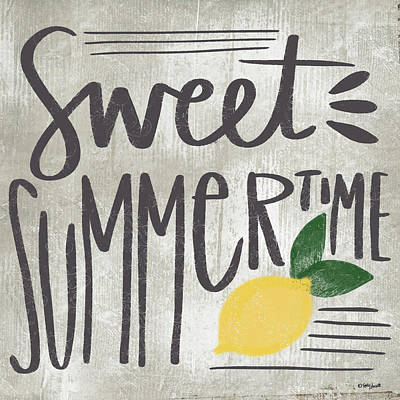 Lemon Painting - Sweet Summertime by Katie Doucette
