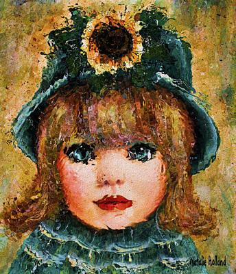 Little Girl Mixed Media - Sweet Sunshine by Natalie Holland