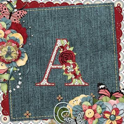Sweet Surprises Monogram A Print by Debra  Miller