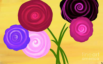 Painting - Sweet Swirls by Anita Lewis