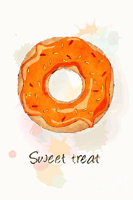 Sweet Treat Orange Art Print by Jane Rix