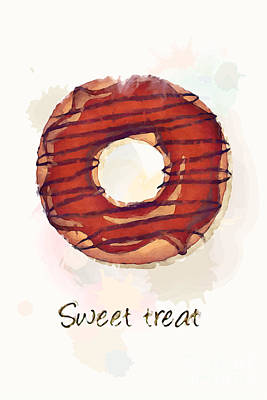 Sweet Treat.jpg Art Print by Jane Rix