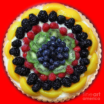 Sweet Treats - Fruit Cake - 5d20920 - Square - Red Print by Wingsdomain Art and Photography