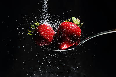 Photograph - Sweet Twin Strawberries by David Andersen