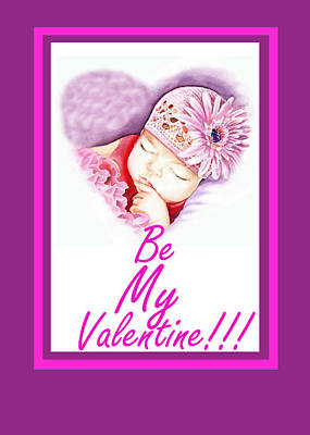 Sweet Valentine  Print by Irina Sztukowski