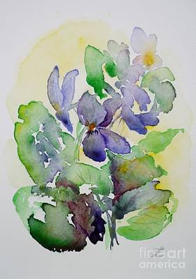 Painting - Sweet Violets by Zaira Dzhaubaeva