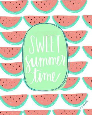 Sweet Watermelon Art Print