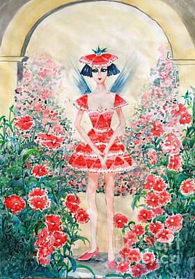 Phong Trinh Painting - Sweet William Fairy by Phong Trinh