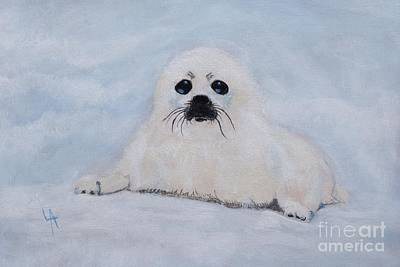 Painting - Sweetest Baby Seal by Leslie Allen