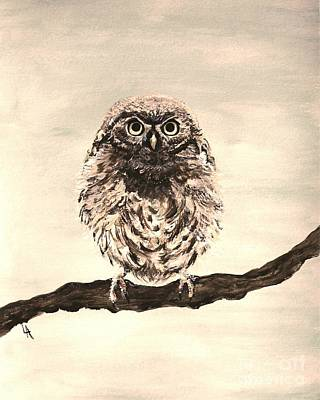 Painting - Sweetest Owl by Leslie Allen