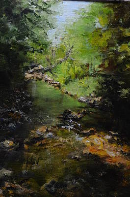 Rill Painting - Sweetgrass Creek by Dolly Bevan Manion