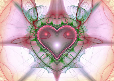 Digital Art - Sweetheart Fractal by Mary Almond