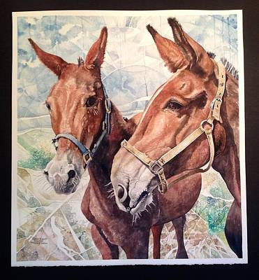 Painting - Sweetie And Jackson by Lance Wurst