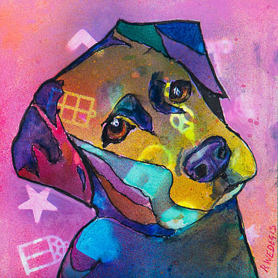 Dog Portrait Painting - Sweetie by Roger Wedegis