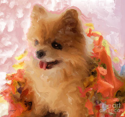 Digital Art - Sweetiie Pom by Ruby Cross