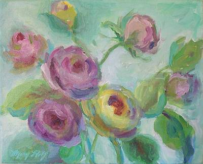 Art Print featuring the painting Sweetness Floral Painting by Mary Wolf