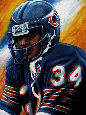 Chicago Bears Painting - Sweetness by Marlon Huynh
