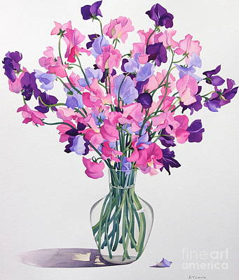 Jars Painting - Sweetpeas by Christopher Ryland