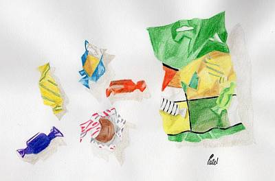 Drawing - Sweets by Bav Patel