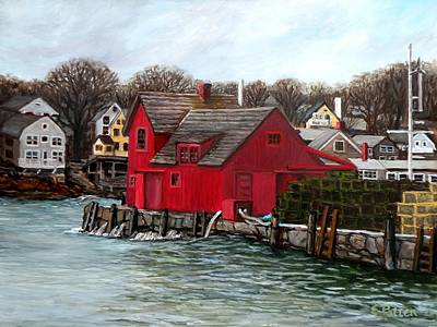 Motif 1 Painting - Swells In The Harbor by Eileen Patten Oliver