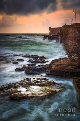 Photograph - Swells On The Walkway Cadiz Spain by Pablo Avanzini