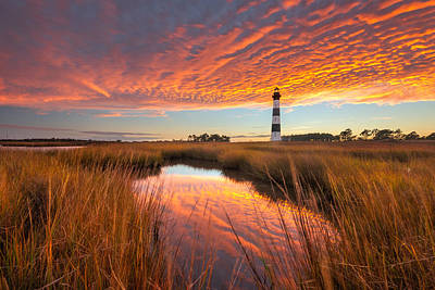 Photograph - Swept Away - Bodie Island Lighthouse by Bernard Chen