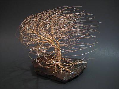 Swept Away Wire Tree Sculpture Original