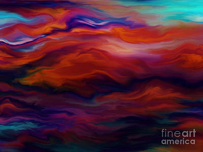 Swept By Volcanic Sky Art Print
