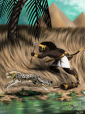 Cheetah Digital Art - Swift Hunters by Vjay Ellis