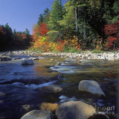 Photograph - Swift River Autumn - Fm000103 by Daniel Dempster