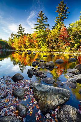 Swift River Autumn Reflections Art Print