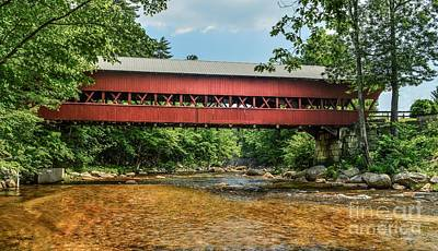 Art Print featuring the photograph Swift River Covered Bridge Hew Hampshire by Debbie Green