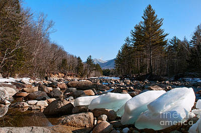 Photograph - Swift River Ice Blocks by Sharon Seaward