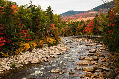 Swift River Painted With Autumns Paint Brush Art Print