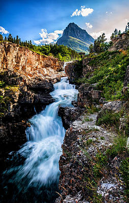 Glacier National Park Photograph - Swiftcurrent Falls by Aaron Aldrich