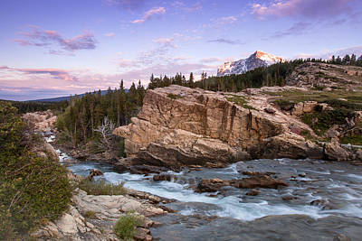 Photograph - Swiftcurrent Falls by Jack Bell