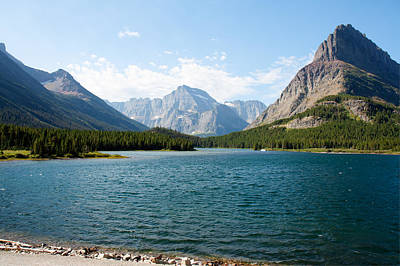 Swiftcurrent Lake Art Print by John M Bailey
