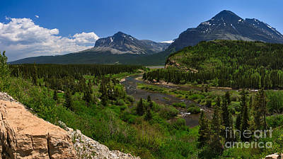 Photograph - Swiftcurrent River Panorama by Charles Kozierok