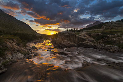 Photograph - Swiftcurrent Sunrise by Joseph Rossbach