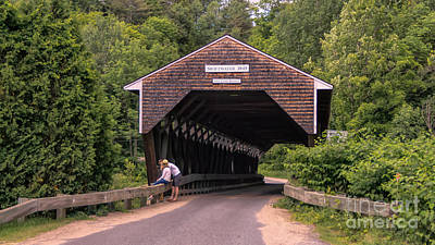Photograph - Swiftwater Covered Bridge. by New England Photography