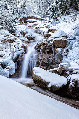 Snowy Brook Photograph - Swiftwater Falls Winter by Jeff Sinon