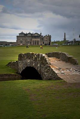 Photograph - Swilken Bridge Vignette St Andrews Old Course Scotland by Sally Ross