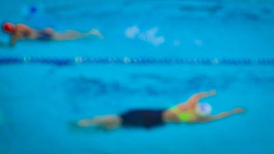 Out Of Focus Photograph - Swim Competition by S Rodriques