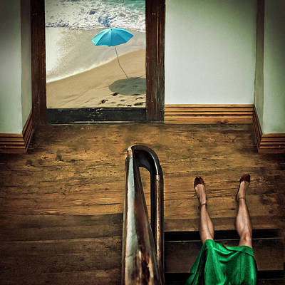 Beach Umbrella Wall Art - Photograph - Swim Or Dive! by Ambra